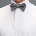 Tweed Chalk Grey Bow Tie