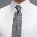 Grey Tweed Check  Tie