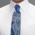 Blue Camden Paisley Tie - Available From 18th April 2018 Tie