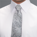 Silver Camden Paisley Tie - Available From 18th April 2018 Tie