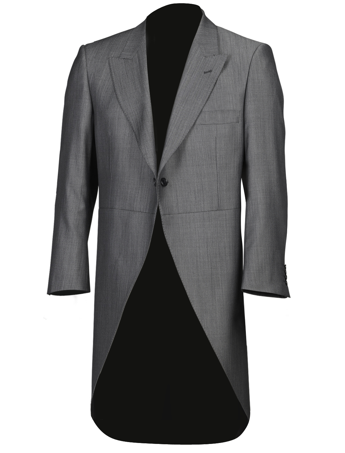 Silk Grey Tailcoat Jacket