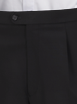 Black Mohair T16 (Y) Plain Trousers