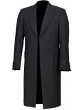 Black Herringbone Frockcoat Jacket
