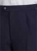 Navy Herringbone Plain Trousers