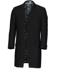 Ben Sherman Black Three Quarter Jacket Suit