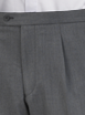 Grey Jeff Banks Plain Trousers