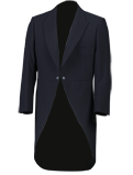 Navy Herringbone Tailcoat Jacket