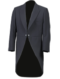 Slate Grey Herringbone Tailcoat Jacket