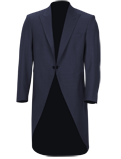 Blue Slim Fit Tailcoat Jacket